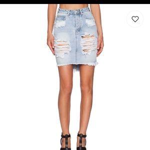 Like New One Teaspoon Denim Skirt